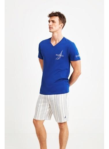 Nautica Pijama Takım Mavi